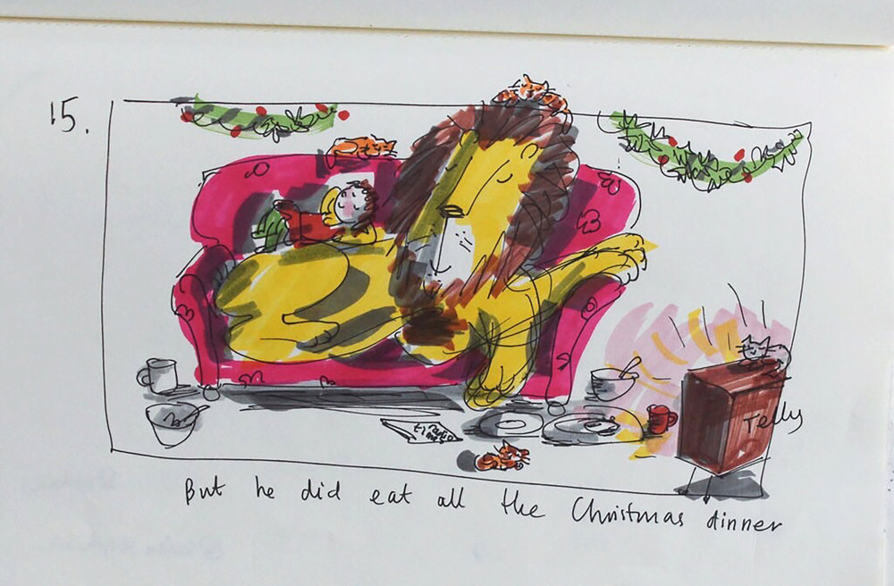 Helen stephens notebook How to Hide a Lion at Christmas