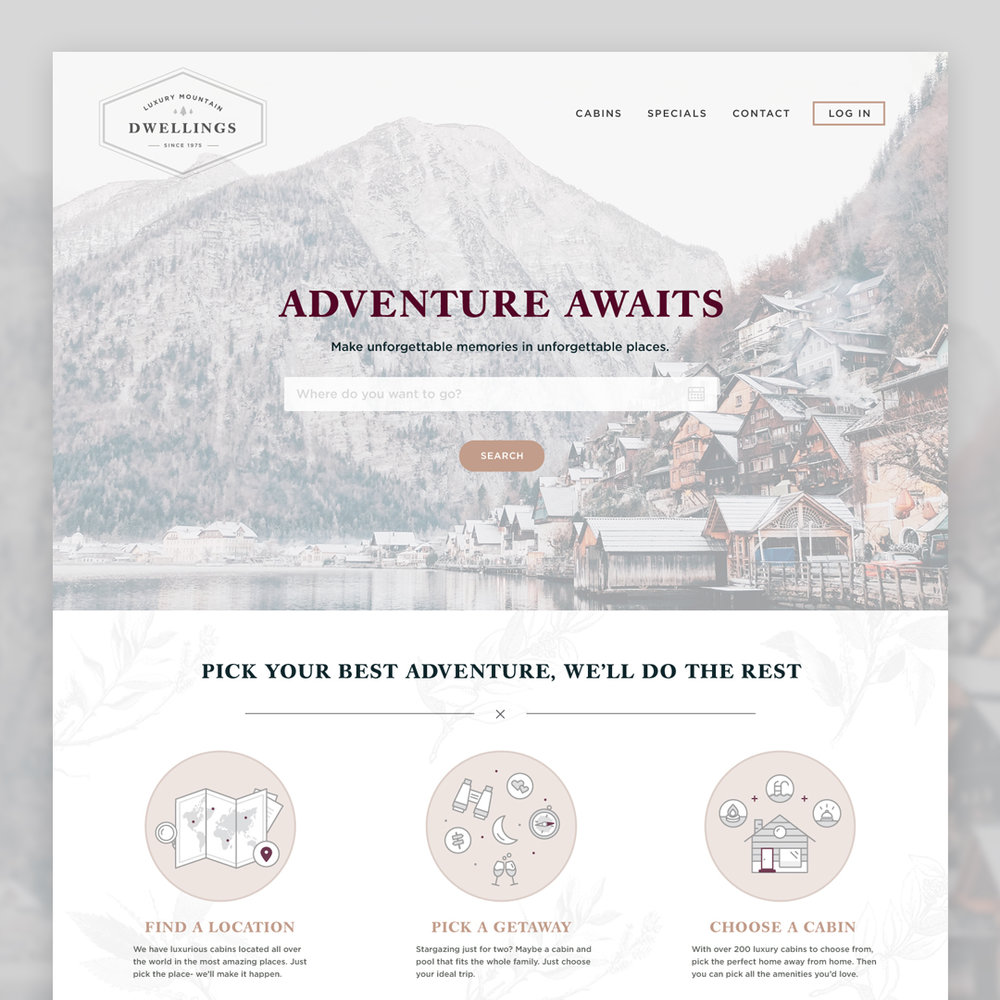 LUXURY MOUNTAIN DWELLINGS WEBSITE