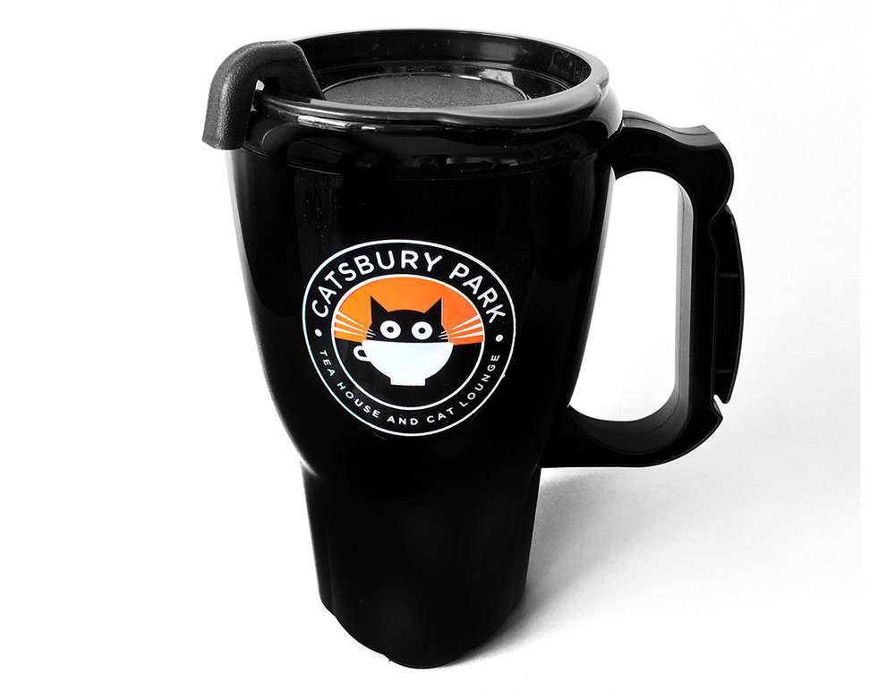 16 oz. mug features double-wall insulation and spill-resistant slider lid with a thumb-slide for convenient opening and closing. Top rack dishwasher safe (non-commercial). Fits most auto cup holders. BPA free.
