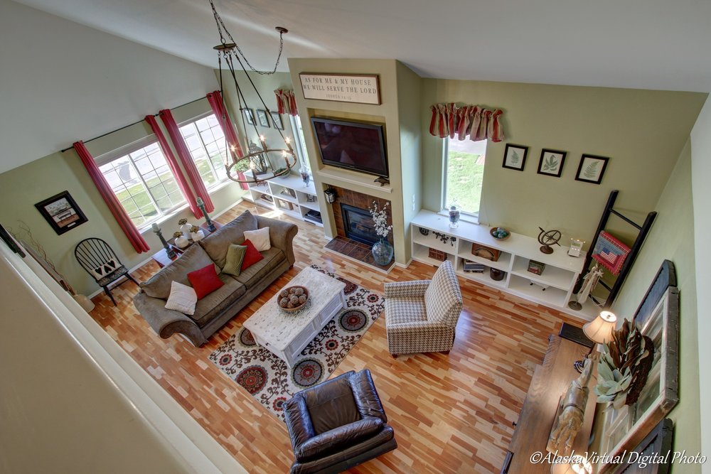 staged home view from above