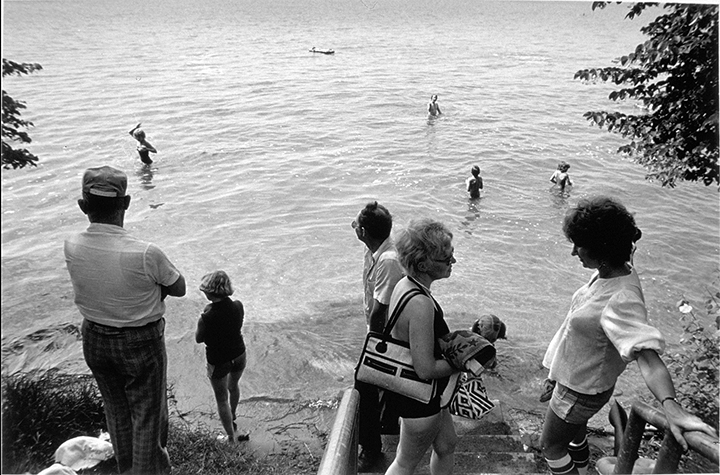 Otter Tail Lake, Minnesota, 1979 Early gelatin silver print 5.5x8.25 inches, 7x11 paper