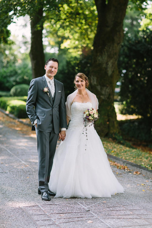 Paarfoto während Hochzeitsreportage in Zürich