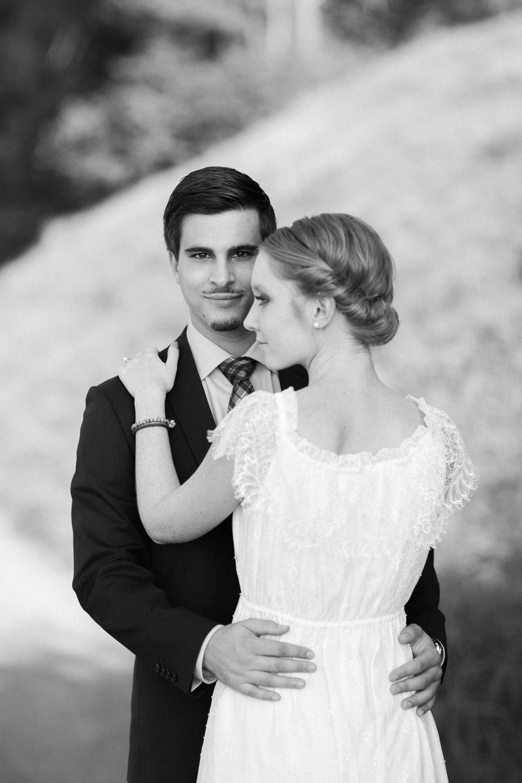 Hochzeitsfotos in schwarz weiss (Maleana Hochzeitsmanufaktur)