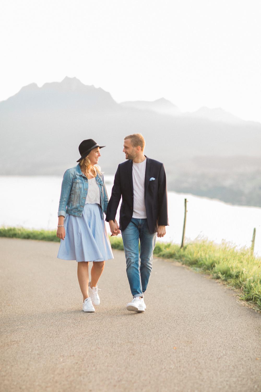 Schlichte Verlobungsfotos in Luzern (Maleana Hochzeitsmanufaktur)