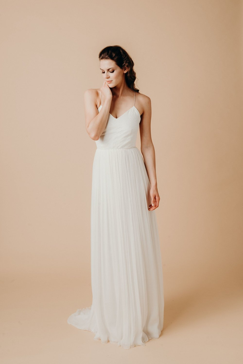 Boho Hochzeitskleid Chiffon
