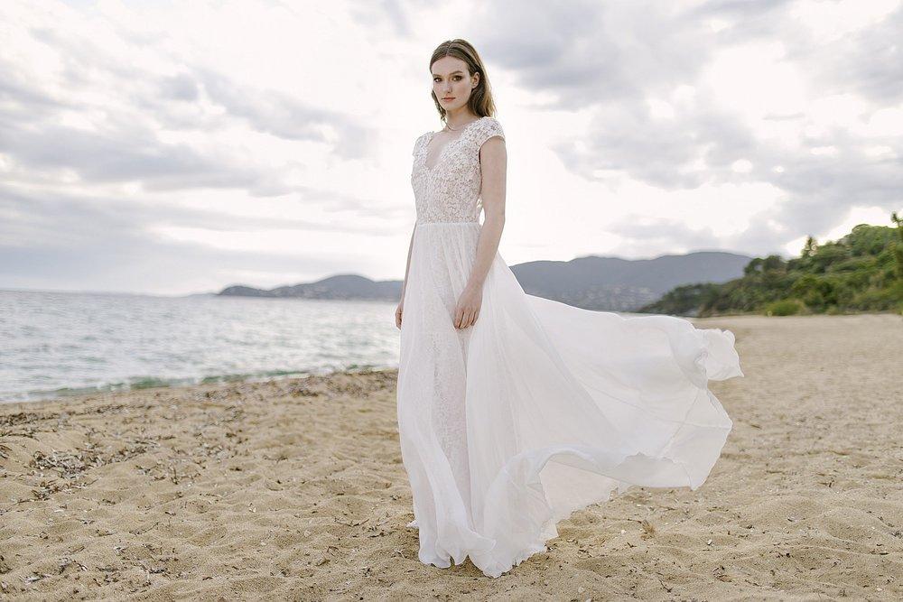 Romantisches Hochzeitskleid Chiffon Spitze