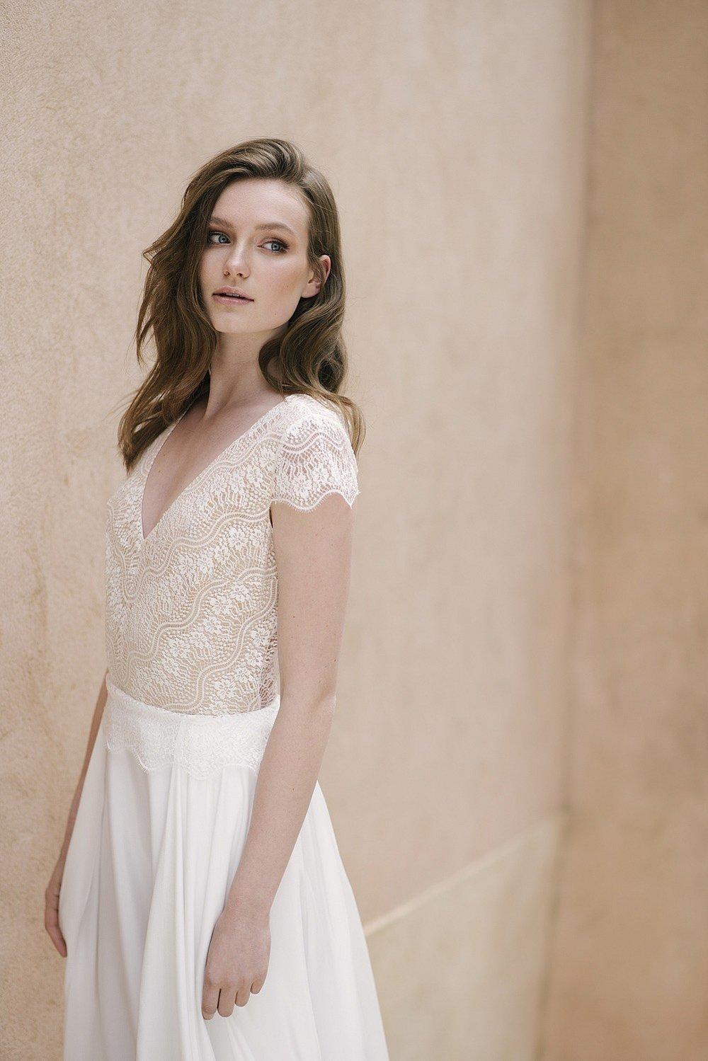 Romantisches Hochzeitskleid Spitze