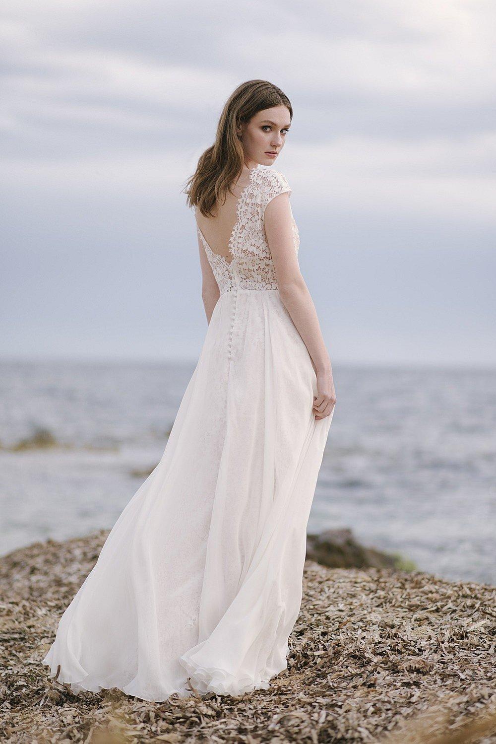 Romantisches Hochzeitskleid Chiffon
