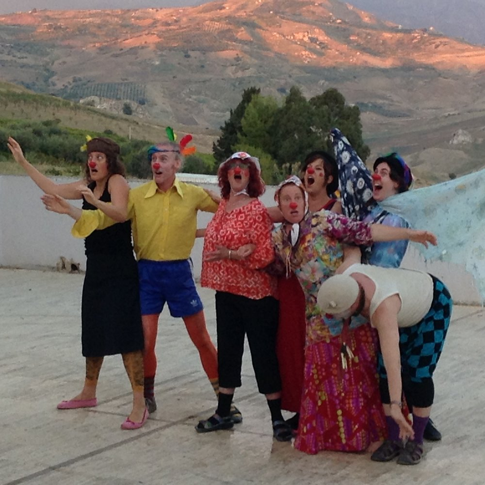Clown students in Cianciana, Sicily, 2015.