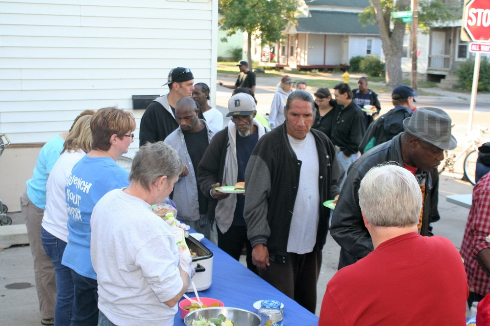 We feed 30 to 50 community residents M-F