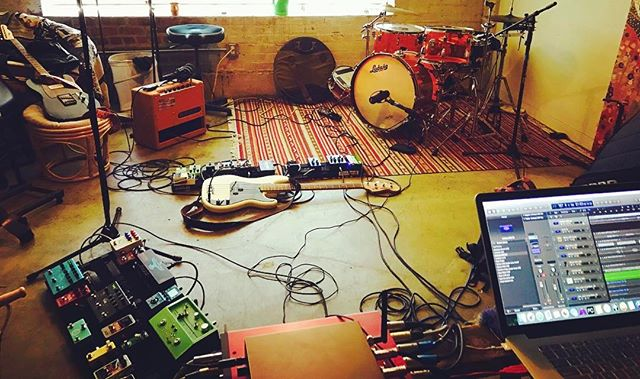 Rehearsal for our @cipsacramento show on July 14th.  We go on at 6! Come drink beer with us. #trophii #livemusic #gearporn #dreampop #indie #band #rehearsal #indierock #shoegaze #pedalboard