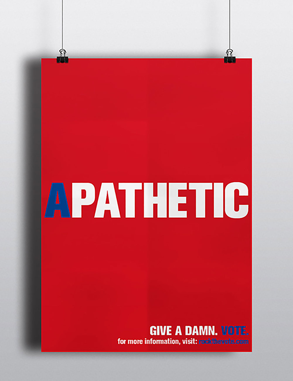 Apathetic / Voting Poster