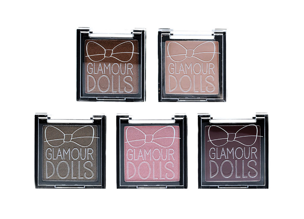 Glamour Dolls Single Eyeshadow Package Design
