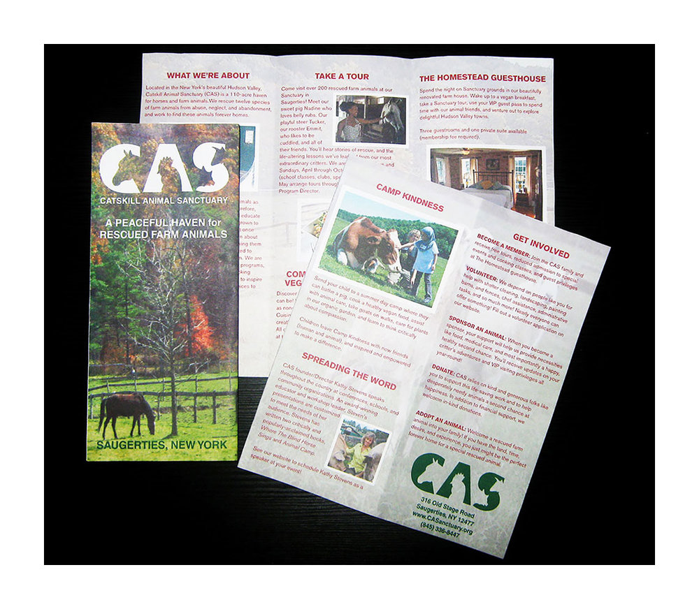 Catskill Animal Sanctuary Brochure Design