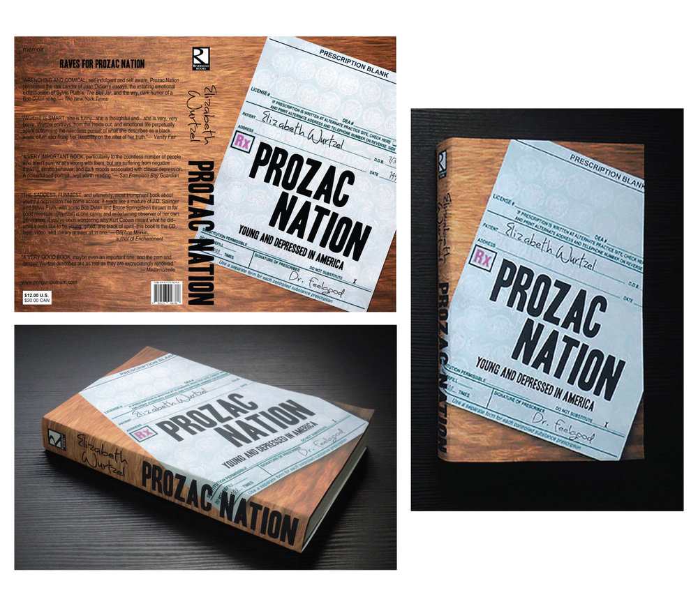 Prozac Nation Book Jacket Design