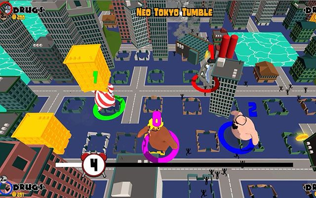 One of my favourite mini games, city smash fest