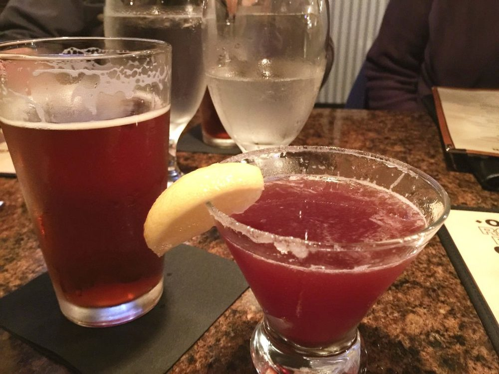 Alcoholic Drinks - Lemon Drop and Beer at Oly Rockfish Grill in Olympia, Washington