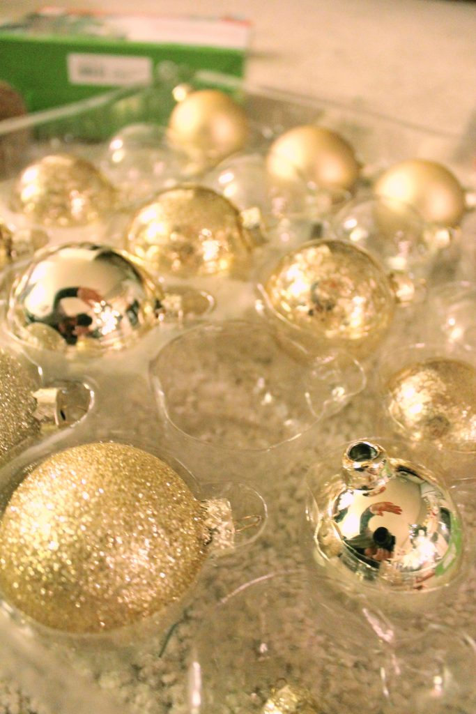 Christmas Gold Ornaments Glass 2015