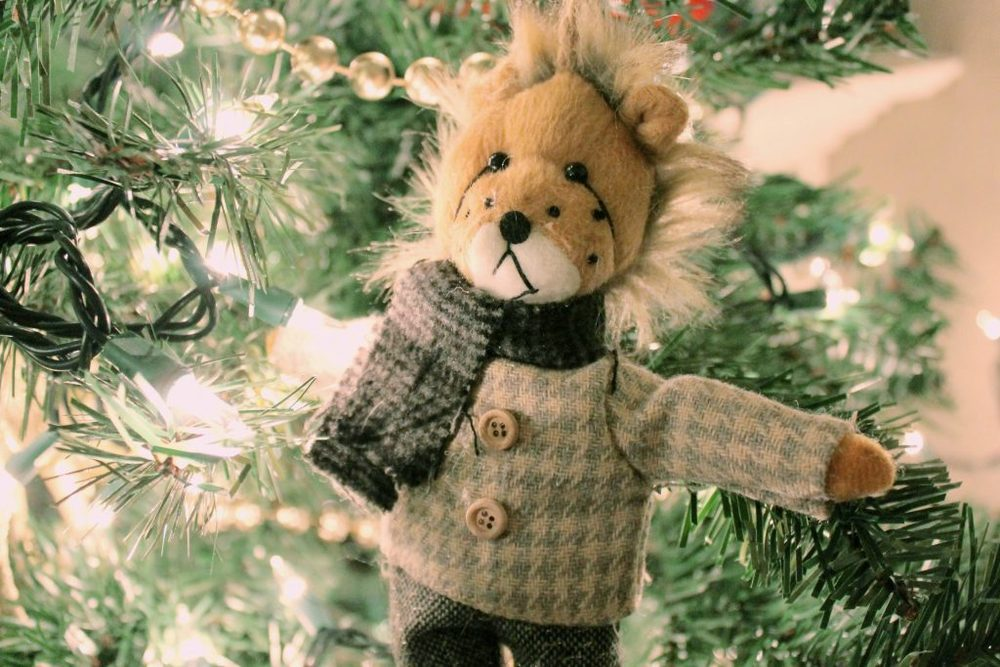 Christmas Tree Ornament Lion 2015