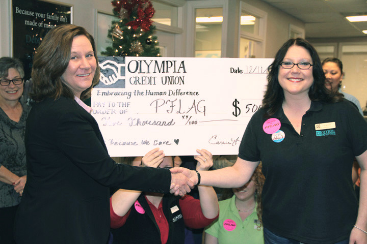 PFLAG Olympia Scores $5,000 Grant 2
