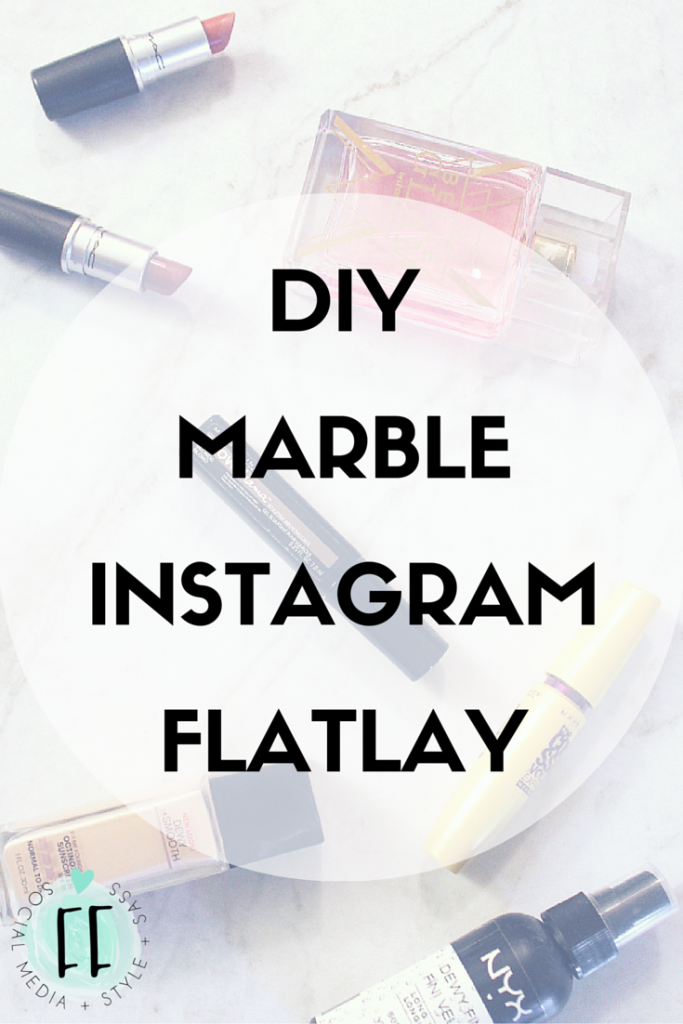 DIY Marble Instagram Flat Lay