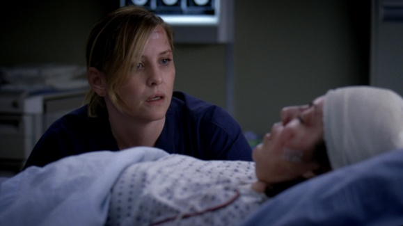 Arizona at Callie's Hospital Bed After Car Accident