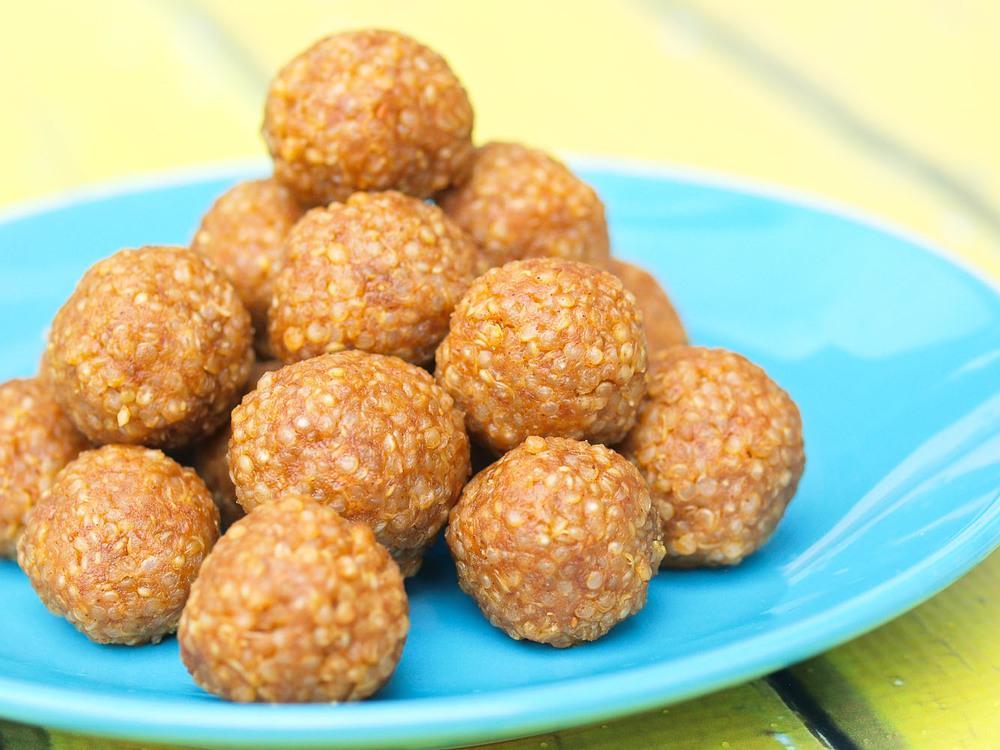 peanut butter balls quinoa