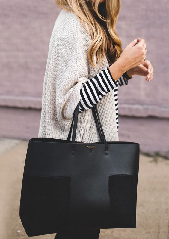 big neutral handbag
