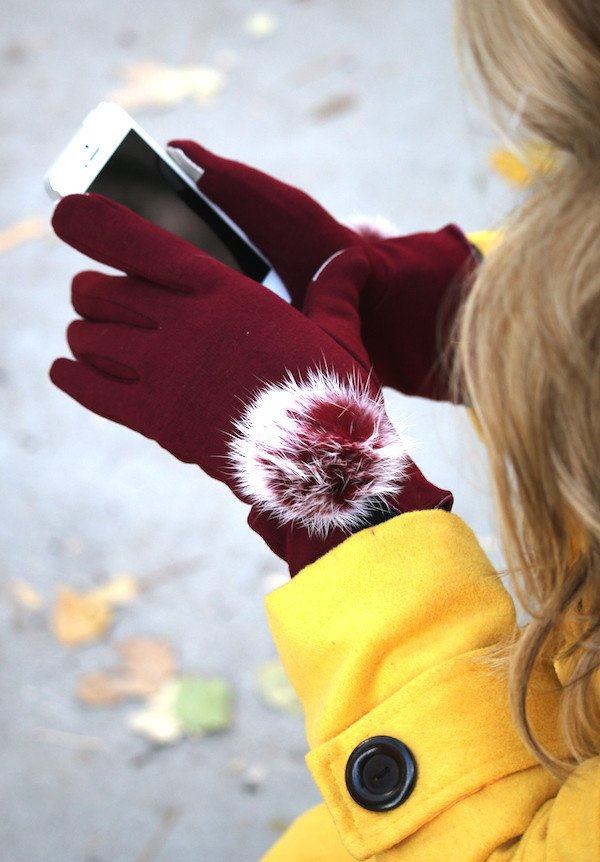 cute gloves with touch screen technology