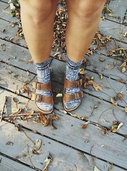 fuzzy socks birkenstocks