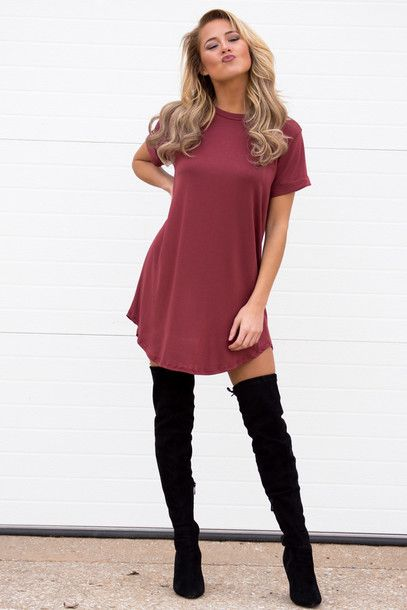 c20eac7b8 I recently bought a pair of thigh high boots and fell in love. Here s some  of the best ways to wear thigh high boots (or in other words  a cute  Pinterest ...