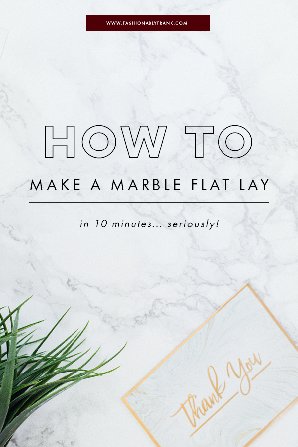 How to Create a Fake Marble Flat Lay