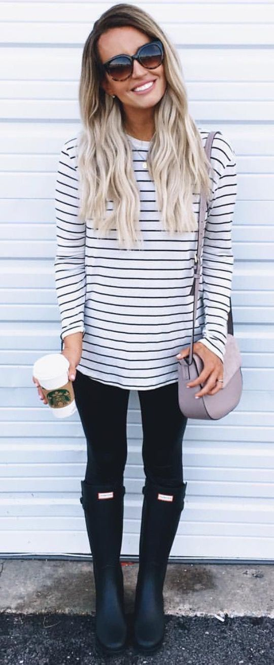 Stripes galore! - Stripes can instantly add depth to an outfit and are a very autumnal-associated print. Pair them with a set of Hunter boots, and I mean, you're pretty much good for life.