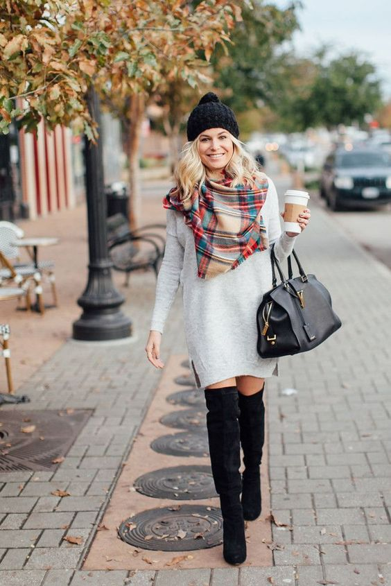 Over-The-Knee Boots - C'mon, you gotta have an over-the-knee boot to complete your supes cute outfit for fall! Adding a sexy flair to any ensemble, all you need are a few core colors: black, brown and gray!