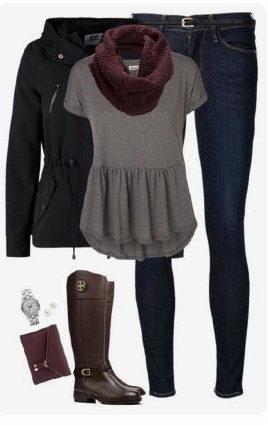 Peplum Tee - I love this with the scarf! The accessory adds some cozy winter flair, allowing you to wear the top all year-round.