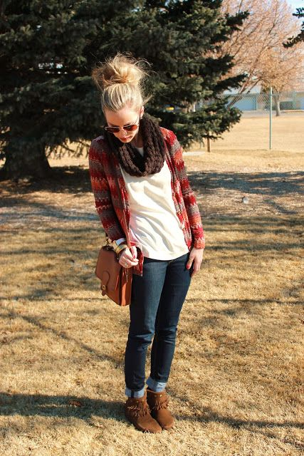 Add a flannel! - I do this with my wardrobe a lot - I love adding a cute plaid on top to stack a layer and make the colors pop!