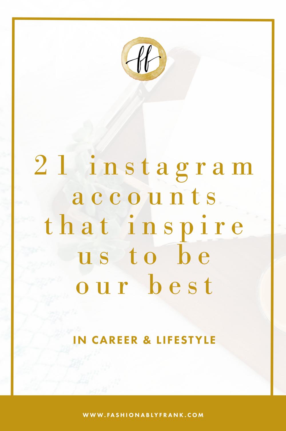 Instagram Accounts That Inspire