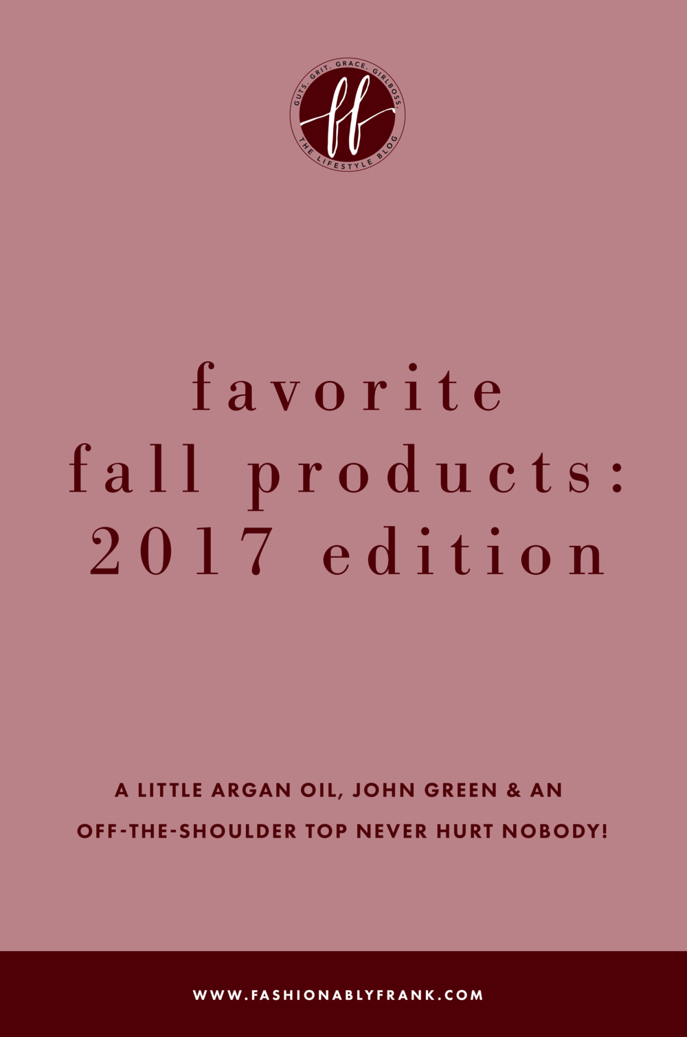 Favorite Fall Products