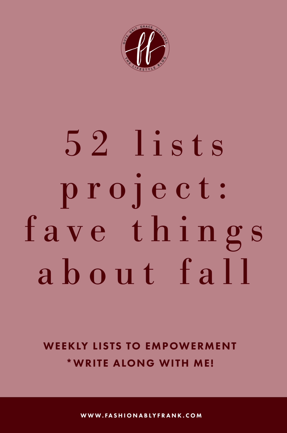 52 Lists Project Favorite Things About Fall