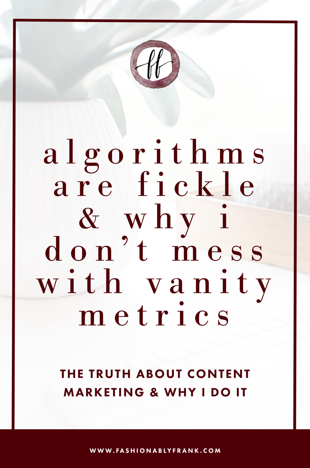 Why I Don't Mess with Vanity Metrics