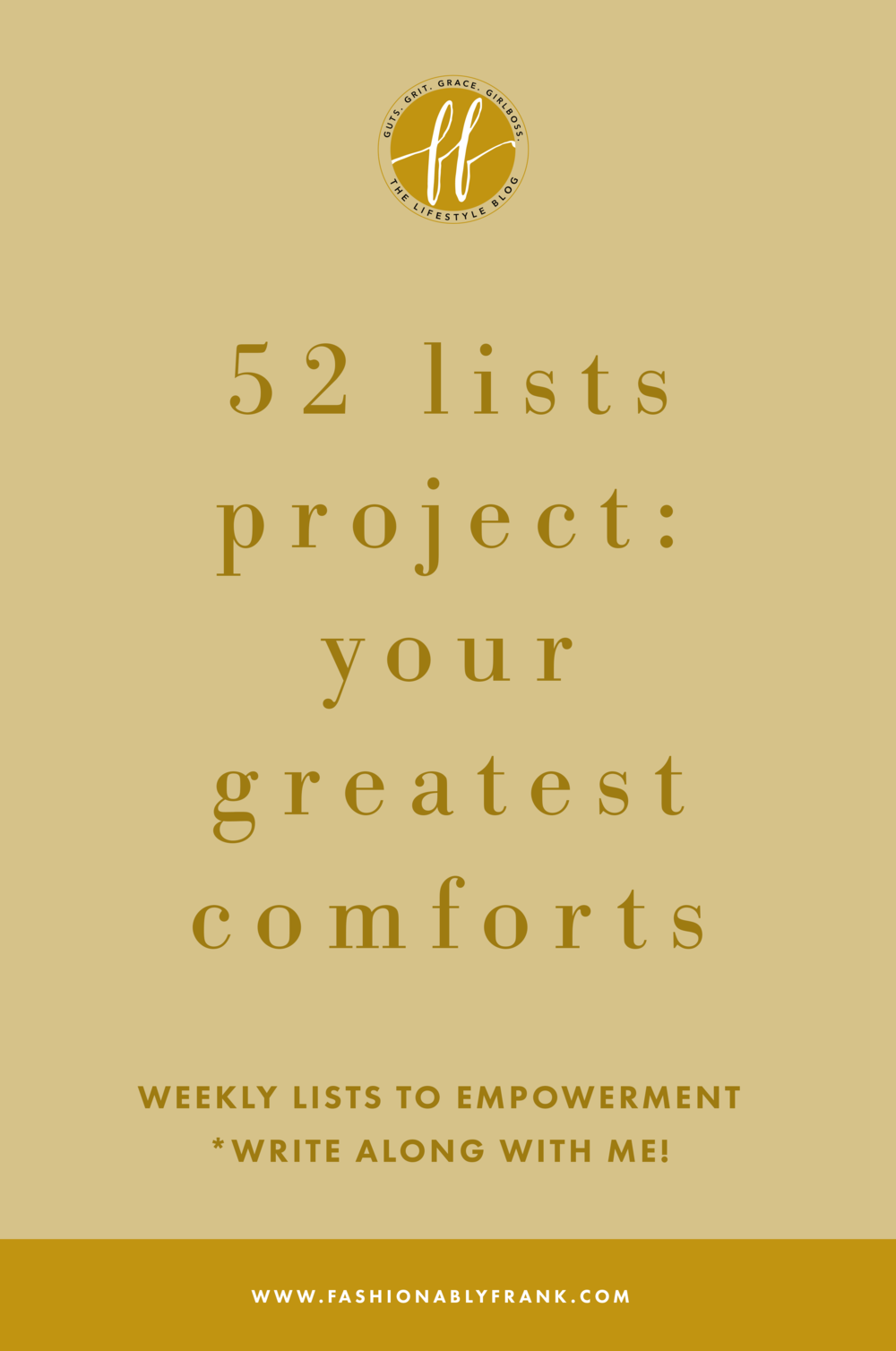 52 Lists Project Your Greatest Comforts
