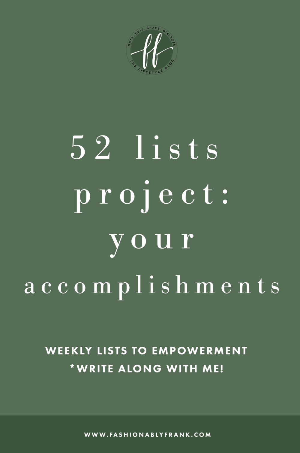 52 Lists Project Your Accomplishments