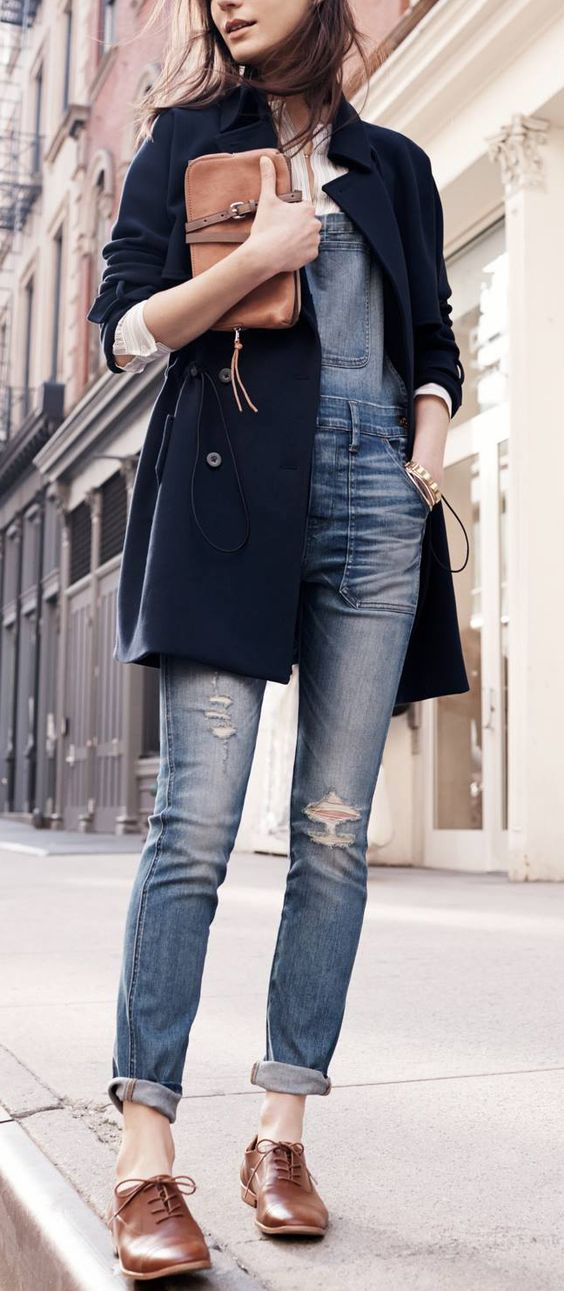 Oxford Shoes And a Peacoat - This gives makes the look so classy and trendy! Almost office-worthy and great for running errands if it's a day you need to dress up a bit.