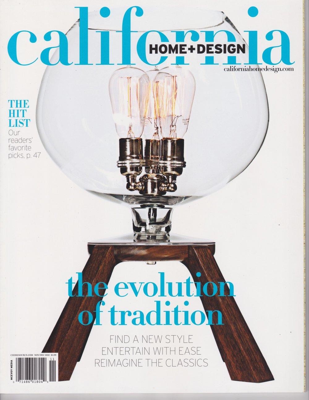 California Home + Design   Design featured for Versatile California Kitchens  Nov/Dec 2010