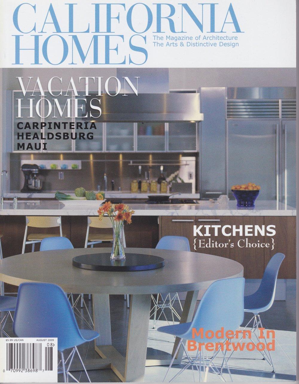 California Homes Magazine   August 2009