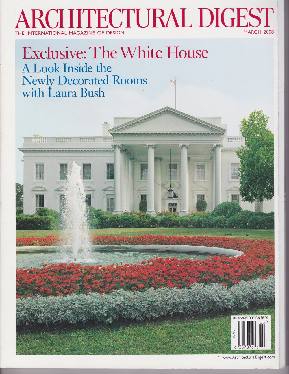 Architectural Digest   Design featured for Sub-Zero Wolf  March 2008