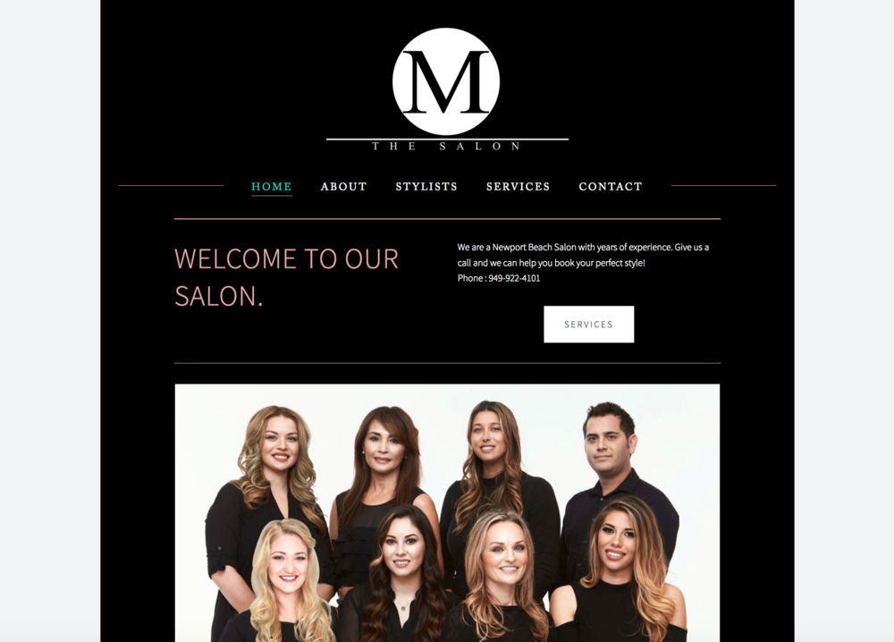 M the Salon, Newport Beach