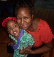 Amari and Me (Paulette) at his 2nd Bday party