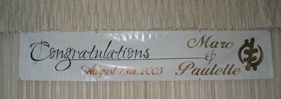 Paulette and Marc Wedding Banner