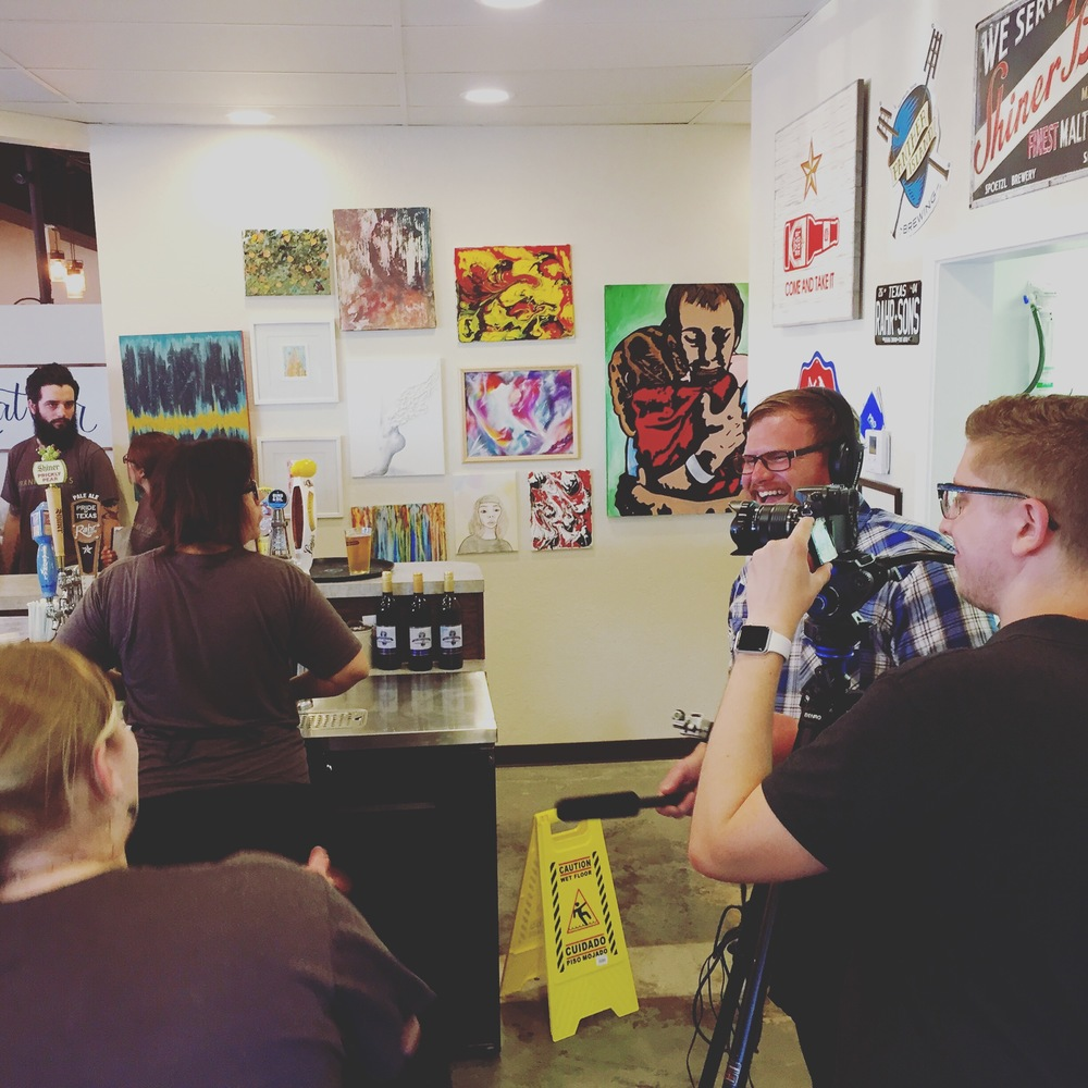 Running interviews for the grand opening documentary we did for Frank & Joe's Coffee House. That's my good friend Matt Hamilton running the camera.